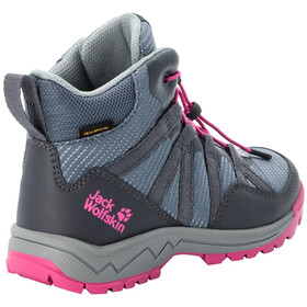 Jack Wolfskin Thunderbolt Texapore Mid Shoes Kids pebble grey/pink